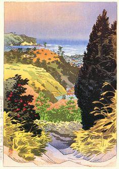 Mountain Path to the Kuzuhara Shrine  by Ito Shinsui, 1953  (published by Watanabe Shozaburo)
