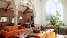 Huge 200-year-old church converted into single-family dwelling. Here's the living room. [1280 x 720] - Imgur