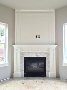 Jeffrey Court Churchill White Split Face in. x 13 mm Marble Mosaic Wall - The Home Depot - - Jeffrey Court Churchill White Split Face in. x 13 mm Marble Mosaic Wall - The Home Depot. Corner Fireplace, Home Fireplace, Home, Room Remodeling, Diy Fireplace, Fireplace Design, Living Room Designs, Fireplace Surrounds, White Fireplace