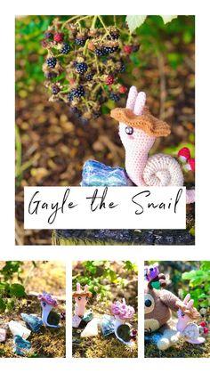Crochet Hook Sizes, Crochet Hooks, Wild Mushrooms, Green Wool, Slip Stitch, Fantasy Creatures, Single Crochet, Snail, Needle Felting