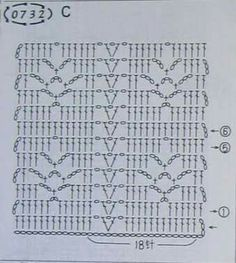 Emmie Vulker's media content and analytics Crochet Stitches Chart, Filet Crochet Charts, Knitting Stiches, Crochet Diagram, Crochet Blanket Patterns, Crochet Motif, Crochet Designs, Crochet Doilies, Stitch Patterns