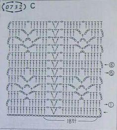 Emmie Vulker's media content and analytics Crochet Stitches Chart, Filet Crochet Charts, Knitting Stiches, Crochet Diagram, Crochet Blanket Patterns, Crochet Motif, Crochet Designs, Crochet Doilies, Crochet Flowers