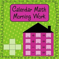 Calendar math morning work--- cover 12 common core math skills every week. It also encourages the kids to keep revisiting material to develop mastery in each area. $2.50