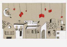 """Ilustración """"Cuentos que encienden la noche"""" 2014 Por Verónica Jimeno Valdepeñas"""