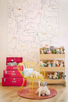 wallsize coloring page_Baby Bottega in Florence withe the TOY STORE by Kids Room Art, Kids Room Design, Kids Rooms, Kids Bedroom Wallpaper, Wallpaper Ideas, Clever Kids, Deco Design, Little Girl Rooms, Baby Room Decor