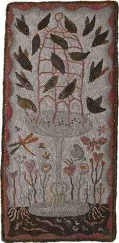 "One of her new patterns for 2013, ""Spring Is Here."" Primitive Spirit Blog tells all."