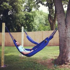 hammocks in the backyard!