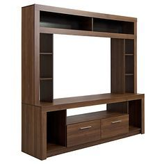 Cic Home Atlántico Nogal Amazónico - TV unt Tv Cabinet Design, Tv Wall Design, Tv Unit Furniture, Home Decor Furniture, Tv Unit Interior Design, Modern Tv Wall Units, Room Partition Designs, Living Room Tv Unit Designs, Living Room Entertainment Center