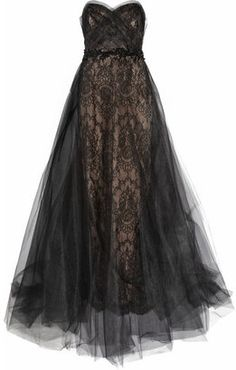 Marchesa Tulle and lace gown