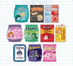 My Hero Academia Snack Acrylic Keychain // Deku Bakugo image 0 My Hero Academia Merchandise, My Hero Academia Memes, Hero Academia Characters, My Hero Academia Manga, Boku No Hero Academia, Kawaii Drawings, Cute Drawings, Food Drawing, Hard Enamel Pin