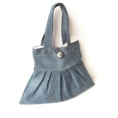 Cute Denim Vegan Purse  Recycle Jeans Small Bag  by MegExpressions, $32.00