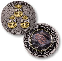 U s Navy Chiefs Deck Plate Leadership Forged from The Deckplates Challeng Coin | eBay