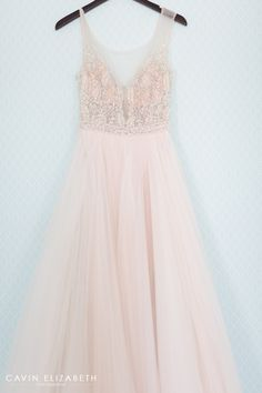 luxury blush pink sleeveless illusion neckline wedding gown from the dress theory photographed for a darlington house wedding