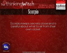 Thinking Witch - Scorpio: . http://ifate.com