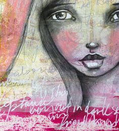 How to create an art journal page with gelli print background...