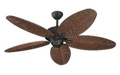 Monte Carlo Cruise Collection Bronze Indoor/Outdoor Ceiling Fan at Lowe's. Cruise 52 in. Roman Bronze Ceiling Fan offers precision balanced motor and blades for wobble-free operation. This roman bronze finished American walnut Monte Carlo, 52 Inch Ceiling Fan, Bronze Ceiling Fan, White Ceiling, Hunter Douglas, Porches, Tropical Ceiling Fans, Large Fan, Outdoor Ceiling Fans