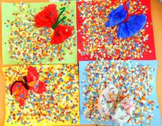 P5 2014-15 TAPA 2N TRIMESTRE CONFETTI I TOVALLÓ COLORS PINTAT AMB AQUAREL.LES. ESCURAPIPES PER LES ANTENES. ESCOLA SANT JUST. Drawing For Kids, Art For Kids, Crafts For Kids, Arts And Crafts, Diy Crafts, Kid Art, Kindergarten Art, Preschool Art, Theme Carnaval