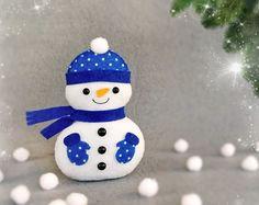 Muñeco de nieve de Navidad personalizada adornos por BelkaUA