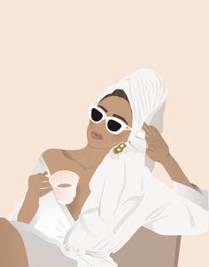 Makeup Illustration, Illustration Art Drawing, Portrait Illustration, Graphic Illustration, Art Drawings, Graphic Art, Illustrations, Graphic Wallpaper, Feminist Art