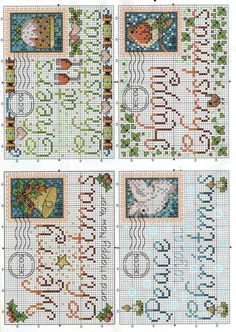 CHRISTMAS ENVELOPES cross stitch charts.  Gallery.ru / Фото #2 - С Рождеством - DELERJE