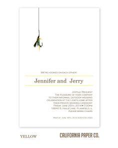 Fishing Wedding Invitation by CaliforniaPaperCo