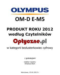 Olympus OM-D E-M5 // nagrody // http://bit.ly/OM-D_E-M5_pl