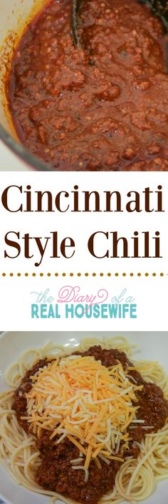 Cincinnati Chili! I'm a born and raise cincy girl and this recipe was pretty darn close. Try it out for your next dinner.
