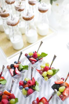 kids parties. birthday. baby or bridal shower. cocktail party food ideas. parties and entertaining. individual servings.