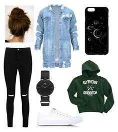 Untitled #30 by adekoooo on Polyvore featuring polyvore mode style Boohoo Converse Daniel Wellington fashion clothing