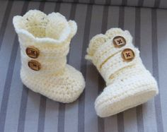 Crochet Boots Pattern Crochet Booties by CrochetBabyBoutique