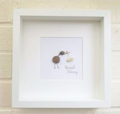 Pebble pictures Pebble Art New Baby Christening Baby Shower Birthday Gifts