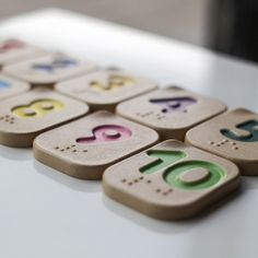 Plan Toys braille numbers 1 to 10 game made from eco friendly wood composite