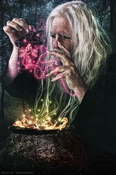 ☆ Just Magic ~ Artist Raquel Kortizo ☆ Gandalf, Magick Spells, Witchcraft, Yule, Fantasy World, Fantasy Art, Male Witch, Fantasy Wizard, Street Magic