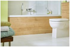 Co-ordinating bath panels complete the look Wooden Bath Panel, Fitted Bathroom Furniture, Family Bathroom, Bathroom Cabinets, Coastal, Bathrooms, Storage, Design, Bathroom Vanity Cabinets