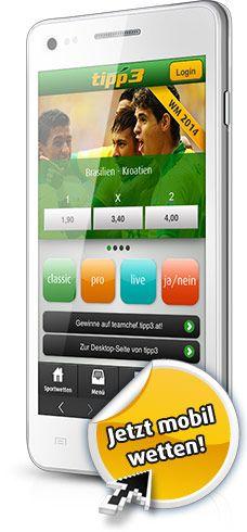 Jetzt bei tipp3 mobil am Smartphone wetten! Smartphone, Electronics, Sports Betting, Consumer Electronics