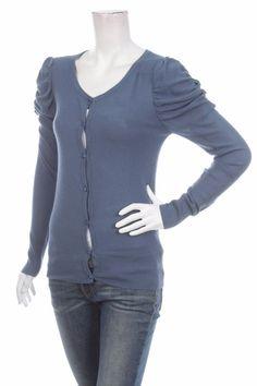 ROSEMUNDE COPENHAGEN WOMEN'S CARDIGAN Size M Blue Spruce cashmere LONG SLEEVE #RosemundeCopenhagen #Cardigan #CareerEveningOccasionCasual