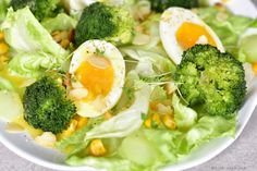 Egg broccoli and corn salad. Egg broccoli and corn salad with honey mustard dressing. A delicious spring salad very light you will be wanting more with each bite! Honey Mustard Dressing, Best Salad Recipes, Spring Salad, Corn Salads, Egg Salad, Healthy Salads, Broccoli, Seafood, Eggs