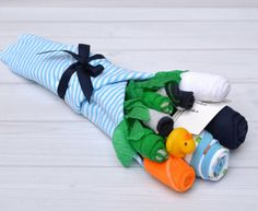 Baby Boy Gift Clothing Flower Bouquet for Baby by babyblossomco