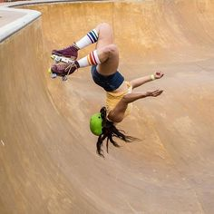 """EstroJen. Moxi Skates ambassador.""""I think if this pool was filled with water, I'd be doing the same thing. Flipping just feels so good to me. thanks for this photo @navographic"""" #moxiskateteam #moxirollerskates 