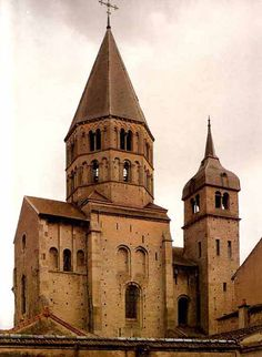 Cluny III 1088-1450, France (nave, elevation & plan)