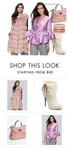 """""""ownthelooks"""" by fatimka-becirovic ❤ liked on Polyvore featuring Jennifer Lopez, Adolfo Courrier, dress, coat and ownthelooks"""
