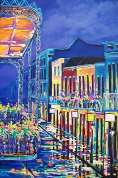 "Contemporary ""Bourbon Street"" Painting Reproductions For Sale On ..."