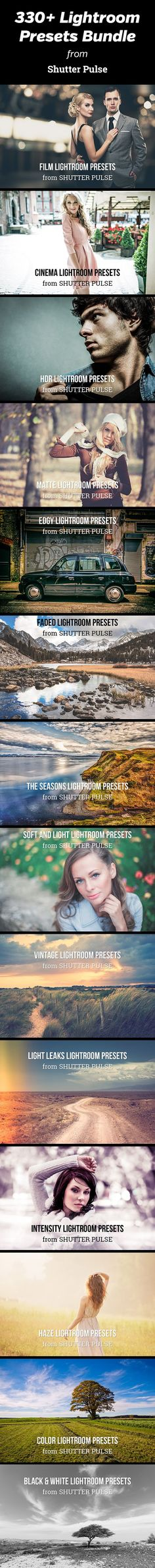 Transform Your Photography with Professional Lightroom Presets - get a bundle of more than 330 Lightroom presets from ShutterPulse.com
