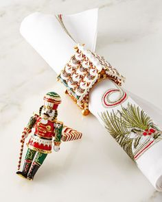 Gingerbread+Napkin++by+Kim+Seybert+at+Horchow.