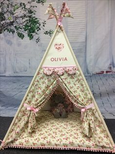 Teepee Play Tent, Diy Teepee, Teepee Kids, Teepees, Tents, Sewing Toys, Baby Sewing, Diy Cardboard Furniture, Sewing Projects
