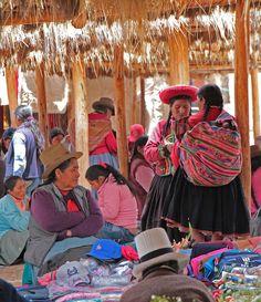 colourful garments, market,  Chinchero, Sacred Valley, Cusco. Perú.  Photo: daniel.virella, via Flickr