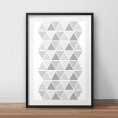 Scandinavian print, geometric pattern, scandinavian poster, scandinavian art, geometric print, triangles art, minimalist poster, gray, grey by HomeDecorDrawing on Etsy https://www.etsy.com/listing/229183954/scandinavian-print-geometric-pattern