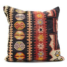 Old Kilim Pillow Cover 13287(オールドキリム クッションカバー) - Eight Hundred Ships & Co.