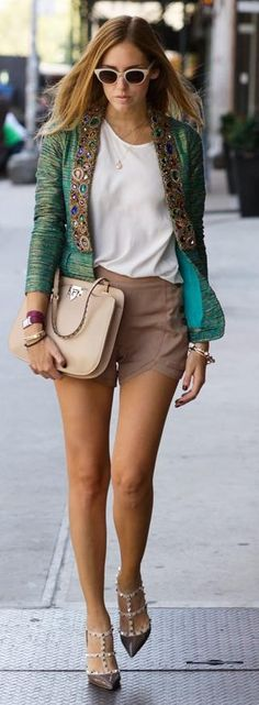 Classy summer style.