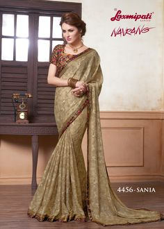 Look Awesome at an Any Occasion By Wearing The Saree. Make A Statement By Donning This Stylish Sarees. Rich in Material and of Pure Ethnic Essence, This Saree Will Be a Collector's Item in Your Fabulous Collection. Laxmipati Sarees, Lehenga Saree, Art Silk Sarees, Indian Sarees, Sari, Saree Models, Stylish Sarees, Elegant Saree, Casual Saree